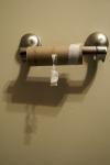 geen wc papier